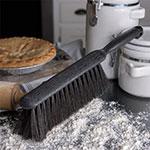 "Carlisle 3622503 8"" Counter/Bench Brush - Horsehair/Plastic, Gray/Black"