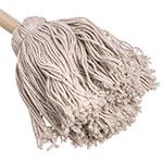 "Carlisle 3623300 20"" Bowl Mop - Cotton Mop Head, Smooth Wood Handle"