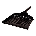 "Carlisle 3623603 12"" Dust Pan - Heavy Gauged Steel, Black"