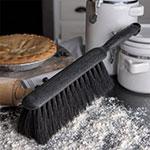 "Carlisle 3625903 8"" Counter/Bench Brush - Tampico/Plastic, Black"