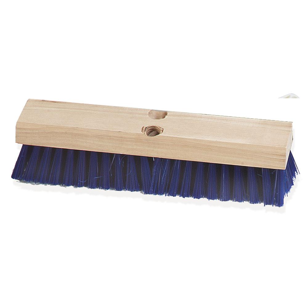 "Carlisle 3627514 12"" Deck Scrub Brush Head - Poly/Hardwood, Blue"