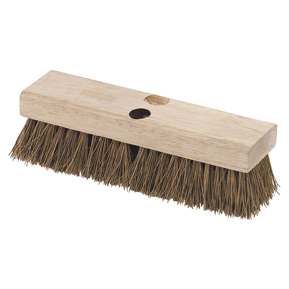 "Carlisle 3629200 12"" Deck Scrub Brush Head - Palmyra/Hardwood"
