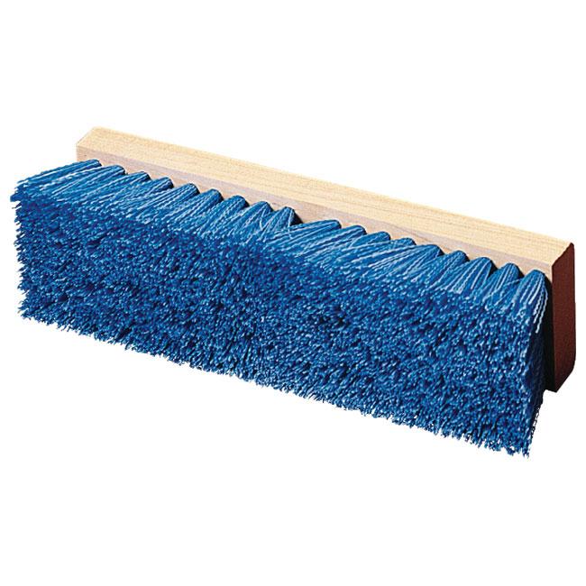 "Carlisle 36293P14 12"" Deck Scrub Brush - Poly/Hardwood, Blue"