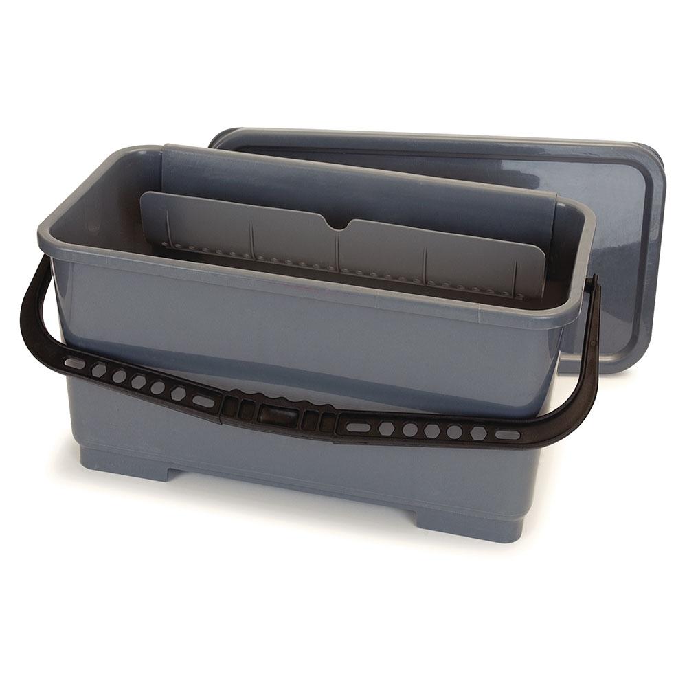 Carlisle 363301923 6-gal Microfiber Squeegee Bucket - Polypropylene, Gray