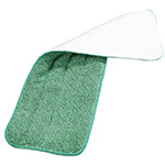 "Carlisle 363321809 18"" Wet/Dry Mop Pad - Looped End Microfiber, Green"