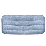 "Carlisle 363322414 24"" Wet/Dry Mop Pad - Looped End Microfiber, Blue"