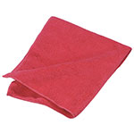 "Carlisle 3633405 16"" Square Microfiber Cleaning Cloth - Suede Finish, Red"