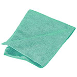"Carlisle 3633409 16"" Square Microfiber Cleaning Cloth - Suede Finish, Green"