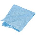 "Carlisle 3633414 16"" Square Microfiber Cleaning Cloth - Suede Finish, Blue"