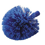 "Carlisle 36340414 9"" Round Duster Head - Soft Flagged Polystyrene Bristles, Blue"