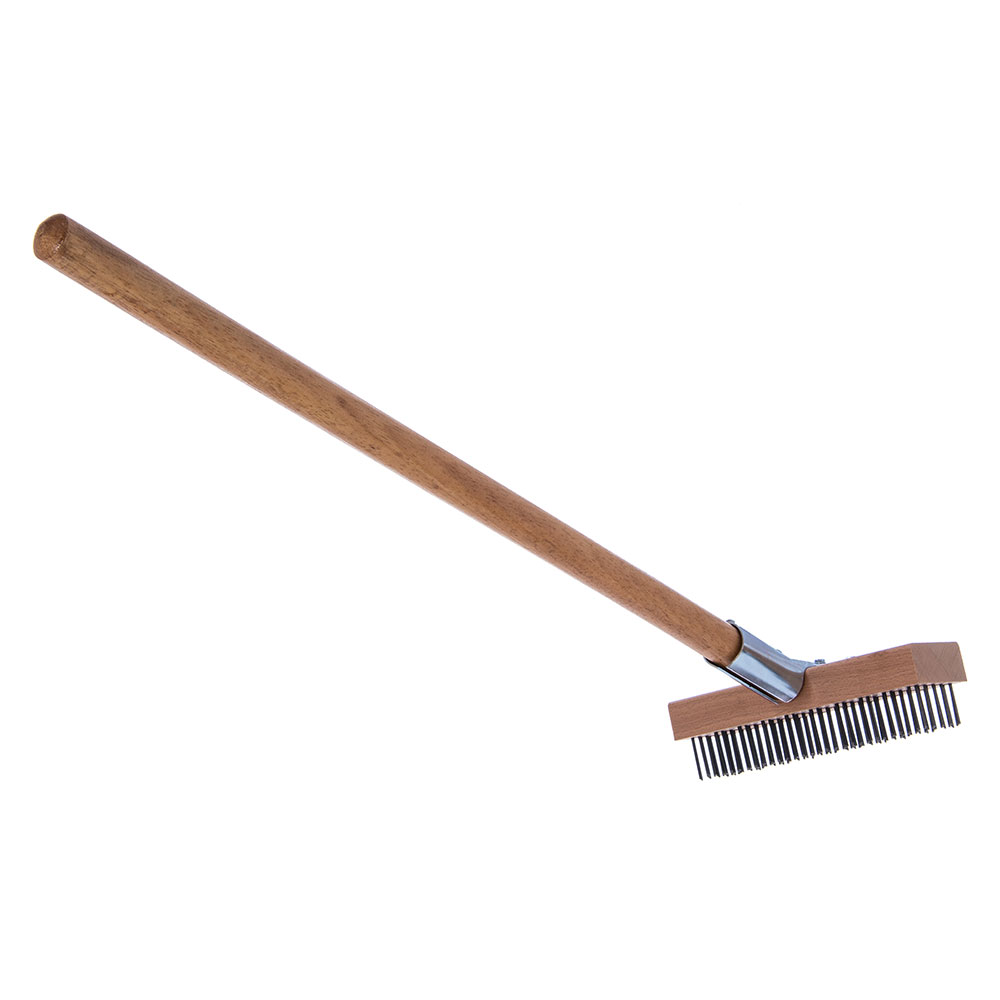 """Carlisle 36372500 30"""" Oven/Grill Brush - Stainless/Wood"""