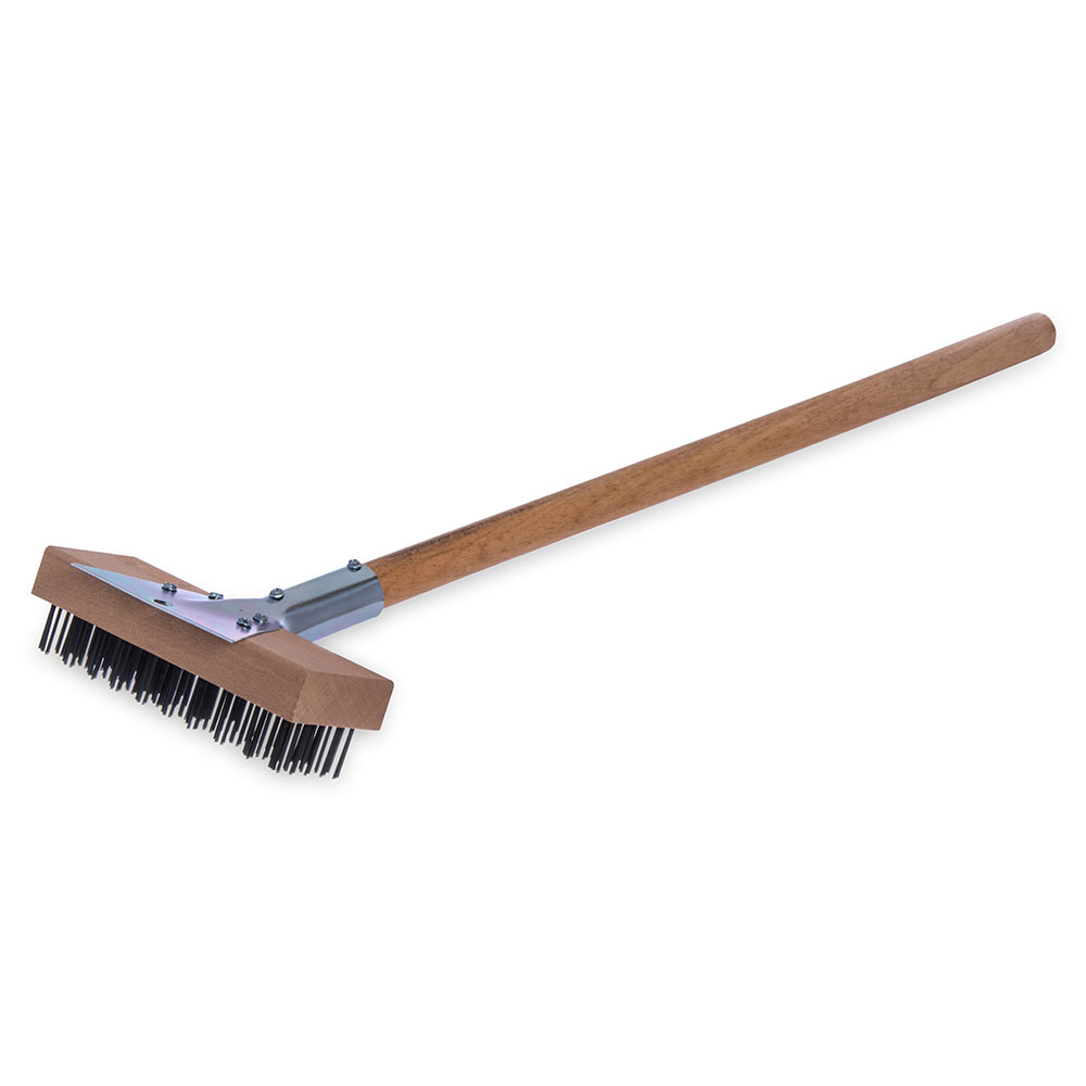 "Carlisle 36372500 30"" Oven/Grill Brush - Stainless/Wood"