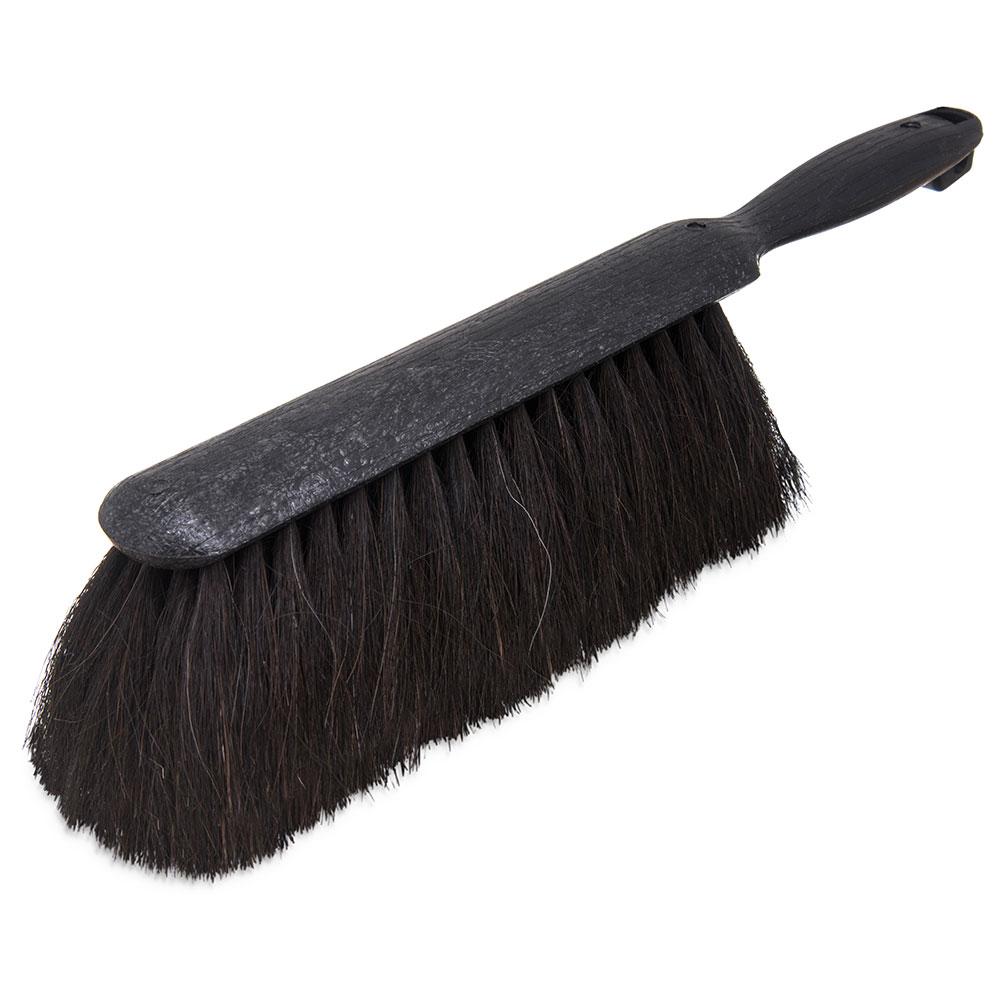 "Carlisle 3638003 9"" Counter/Bench Brush - Horsehair/Plastic, Black"