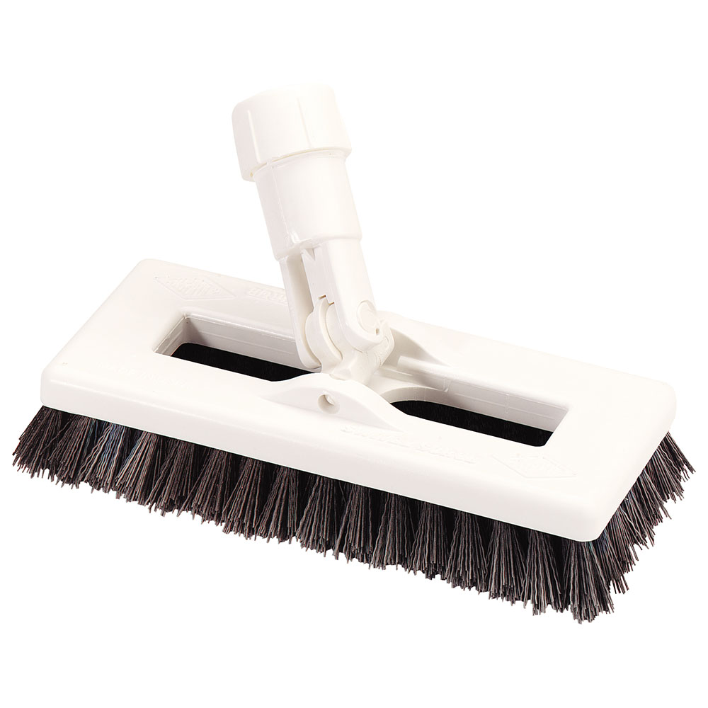 "Carlisle 363883104 8"" Swivel Scrub Floor Brush - Yellow"