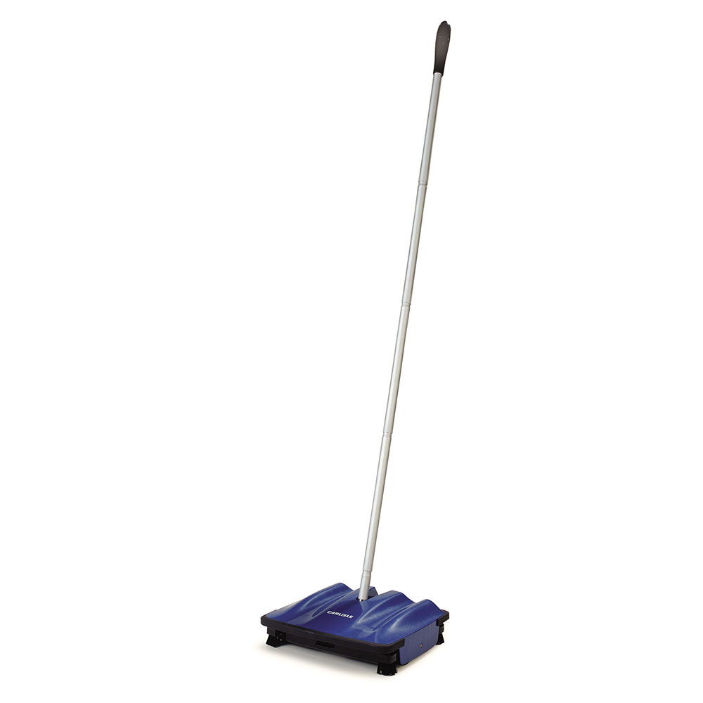 "Carlisle 3639914 9"" Multi-Surface Duo-Sweeper - Low Profile, 42"" Handle, Blue"