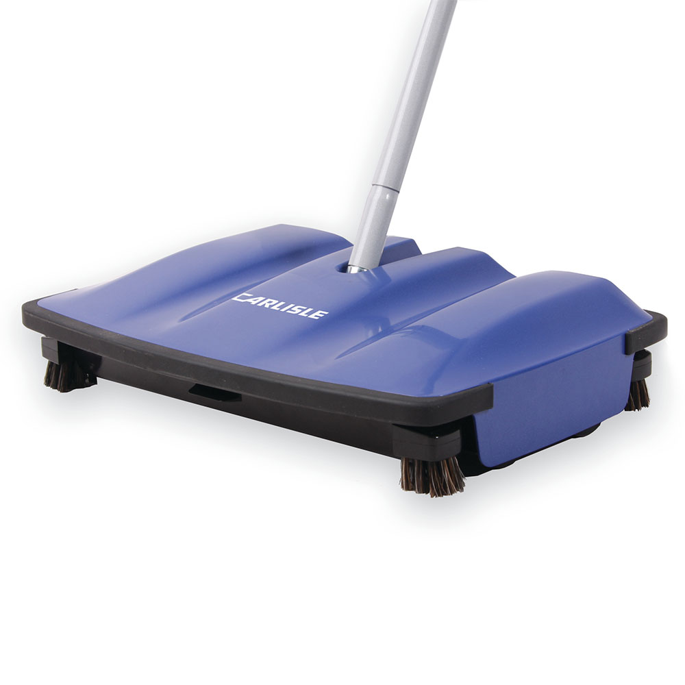 "Carlisle 36400-14 12"" Multi Surface Duo-Sweeper - Low Profile, Blue"