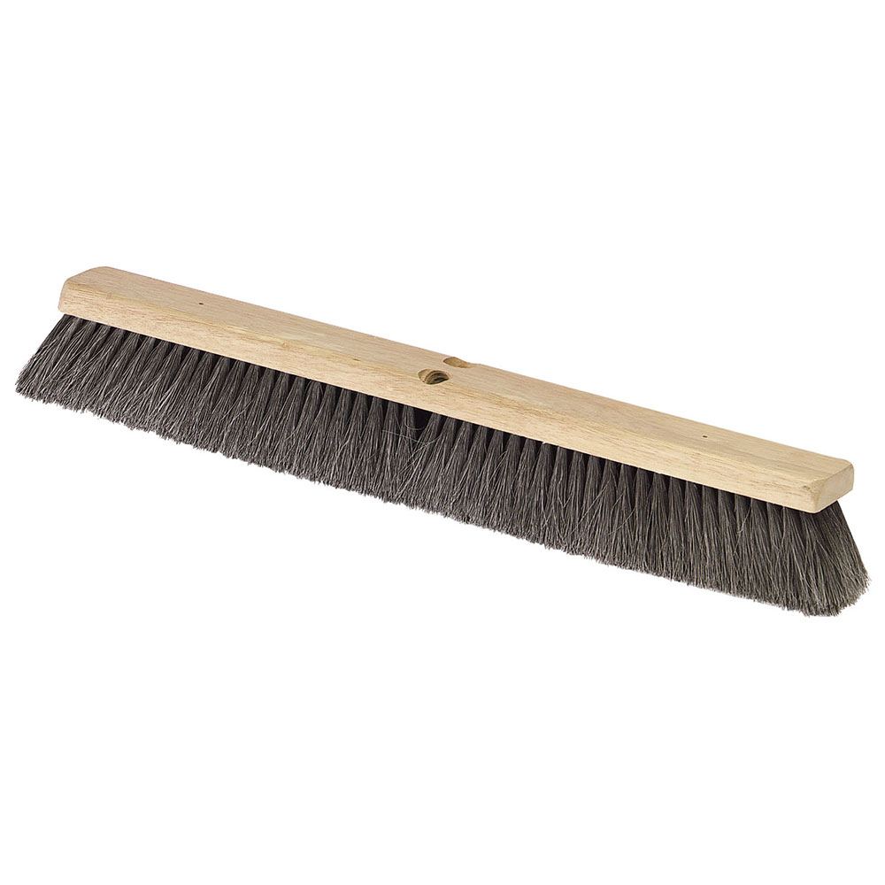 """Carlisle 364341803 18"""" Floor Sweep - Fine, Hardwood Block, Black Horsehair Bristles"""