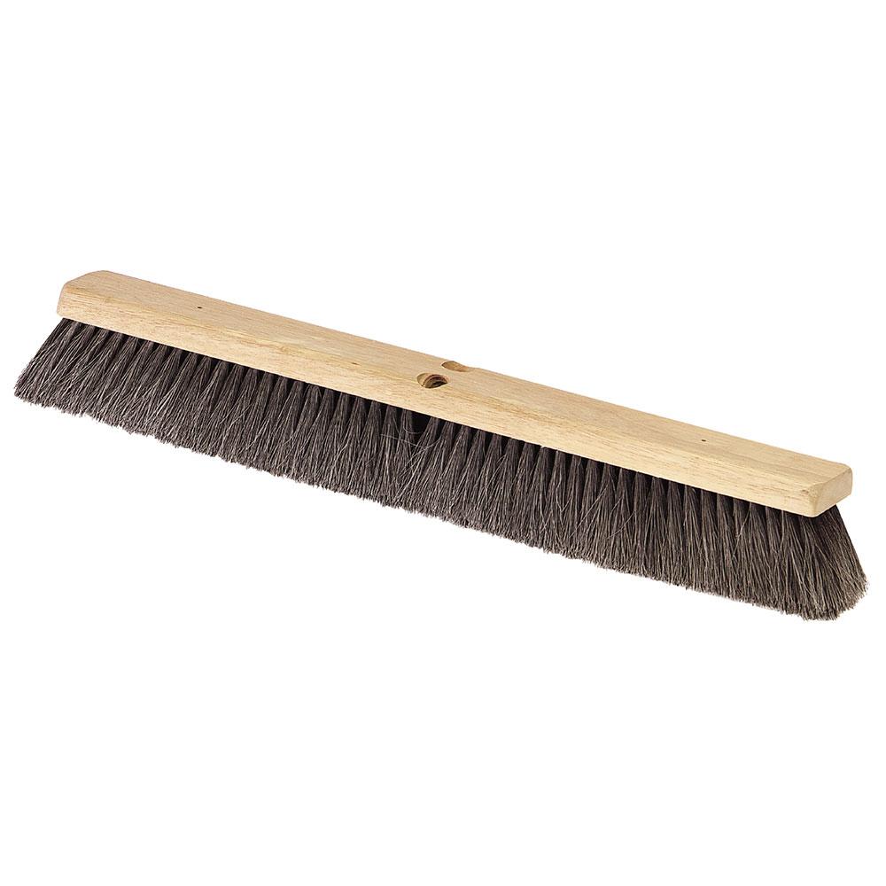 """Carlisle 364342403 24"""" Floor Sweep - Fine, Hardwood Block, Black Horsehair Bristles"""