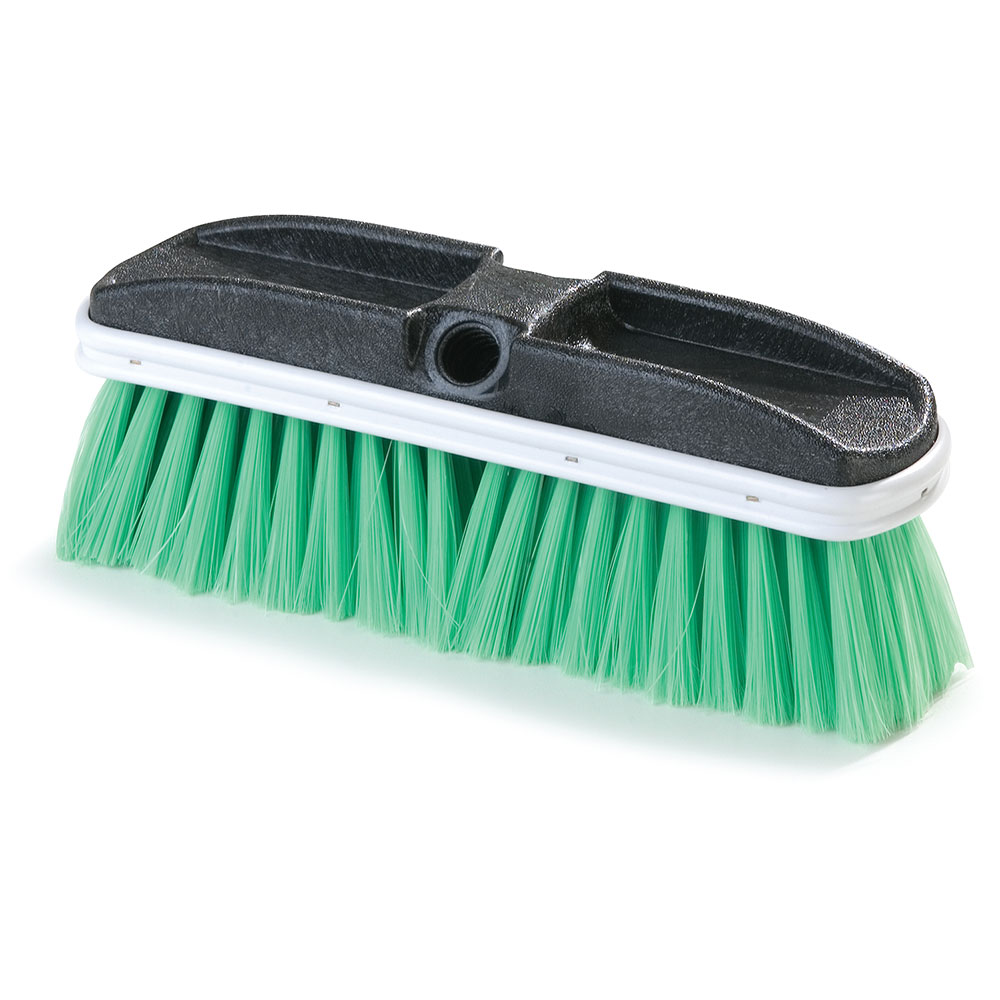 "Carlisle 3646875 10"" Truck Wash Brush - Plastic/Nylex, Green"