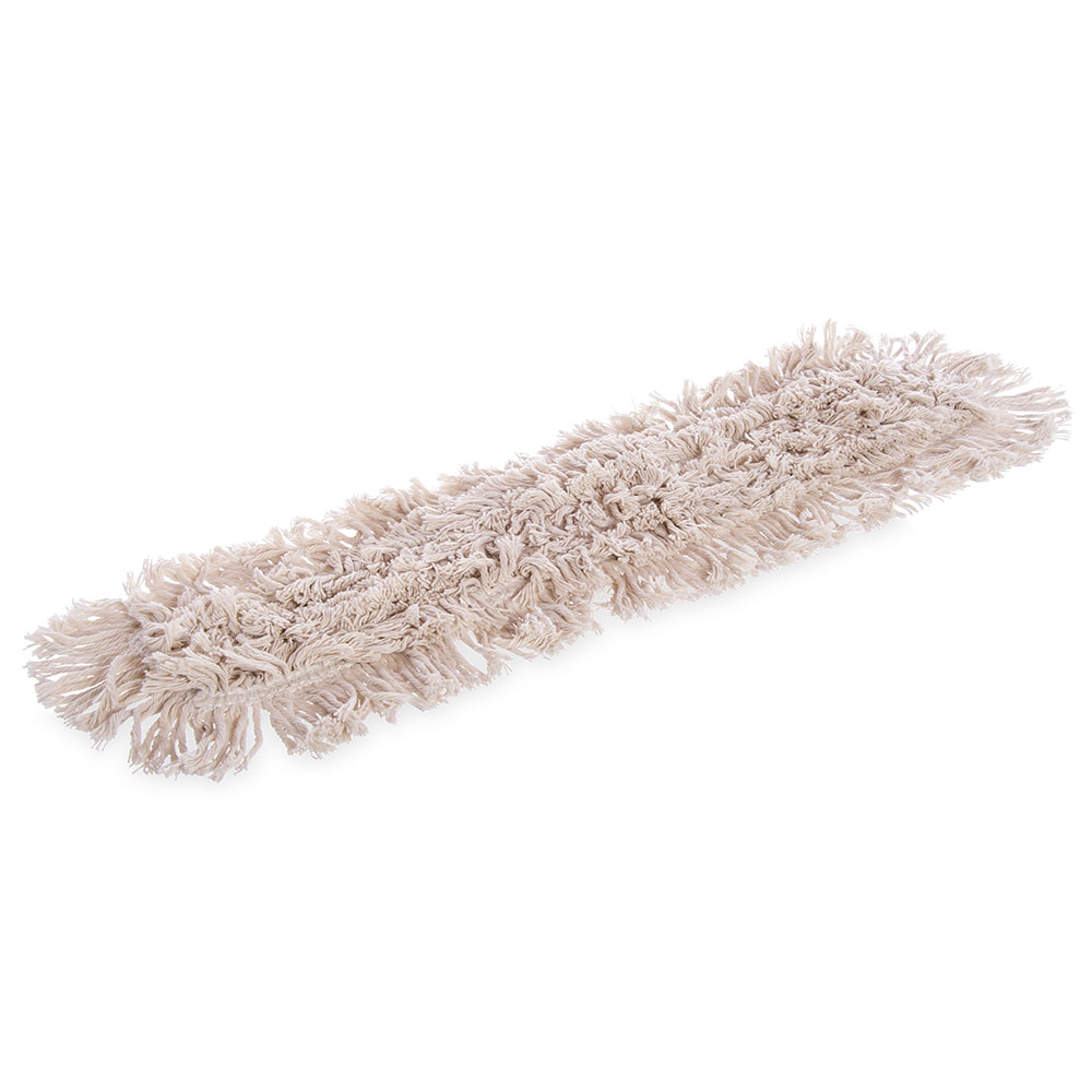 "Carlisle 364732400 24"" Oblong Dust Mop - Tie Back, Cotton, Tan"