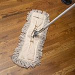 "Carlisle 364752400 24"" Flo-Pac® Dust Mop Head Only w/ Cut Ends, White"