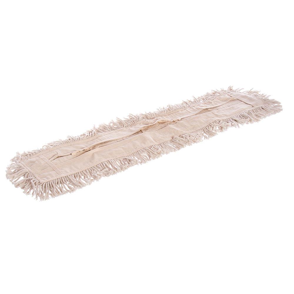 "Carlisle 364753600 36"" Flo-Pac® Dust Mop Head Only w/ Cut Ends, White"