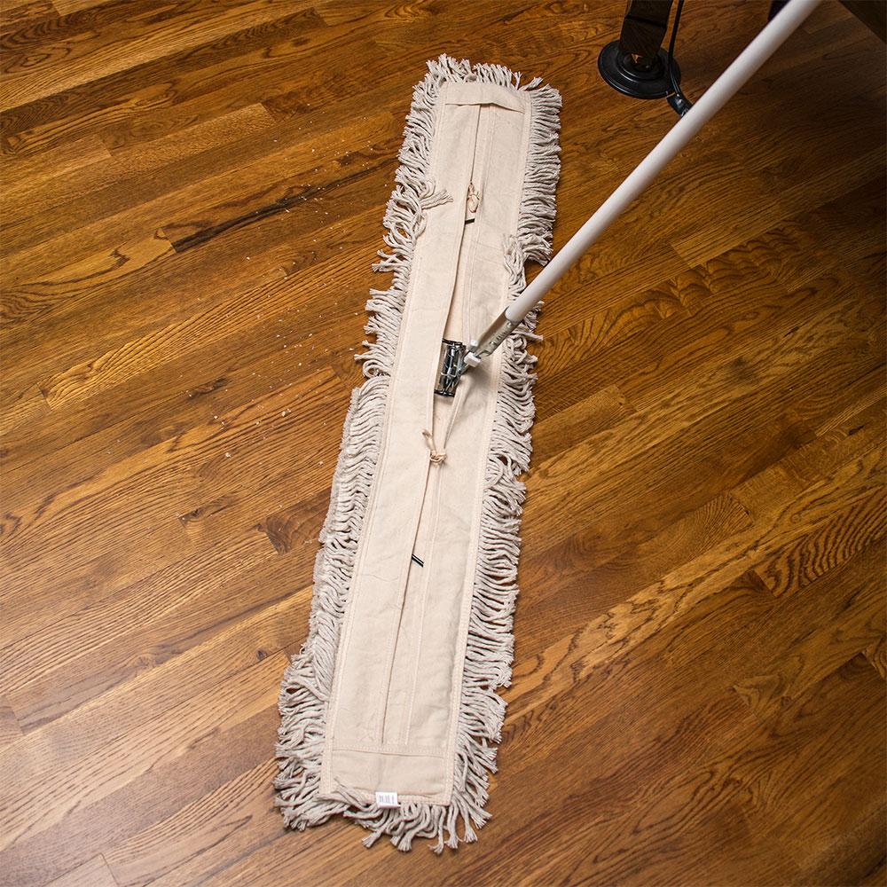 "Carlisle 364754800 48"" Flo-Pac® Dust Mop Head Only w/ Cut Ends, White"