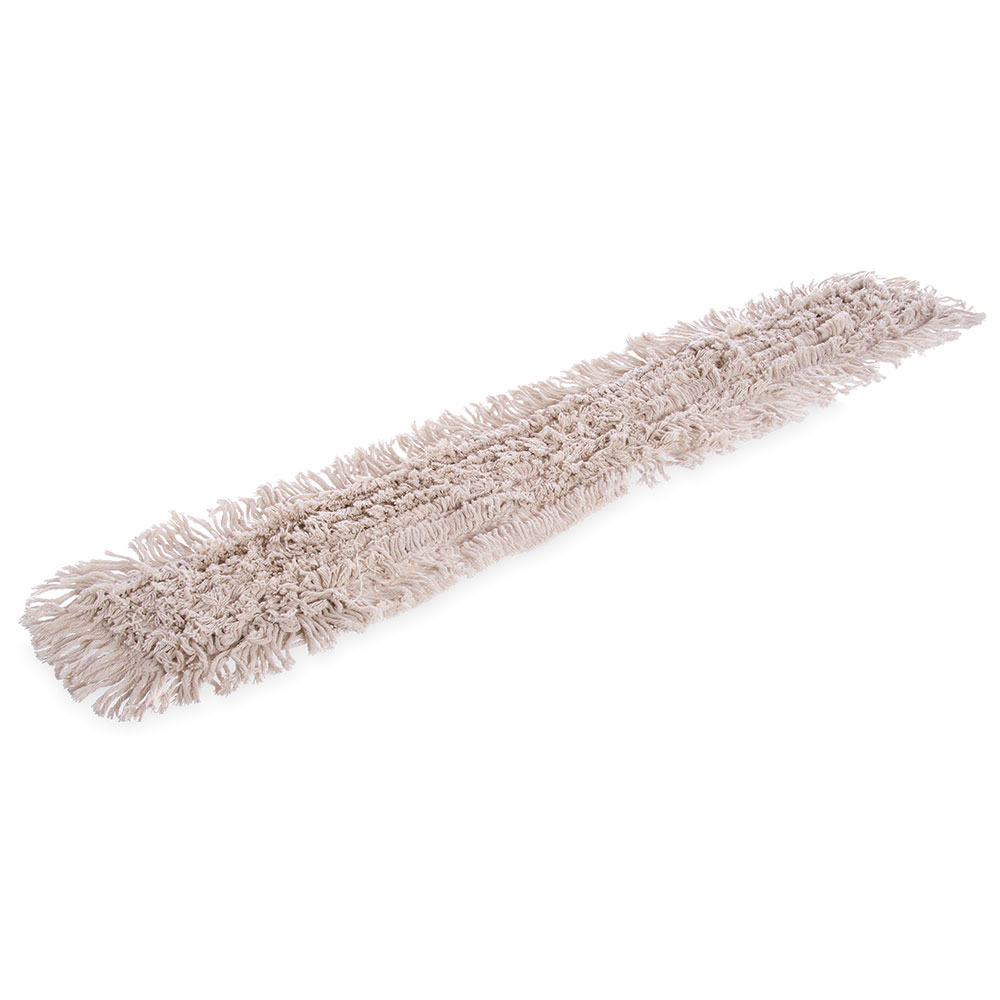 "Carlisle 364754800 48"" Dust Mop Refill - Full Tie Back, Cotton Yarn"