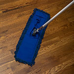 "Carlisle 364882414 24"" Flo-Pac® Dust Mop Head Only w/ Looped Ends, Blue"