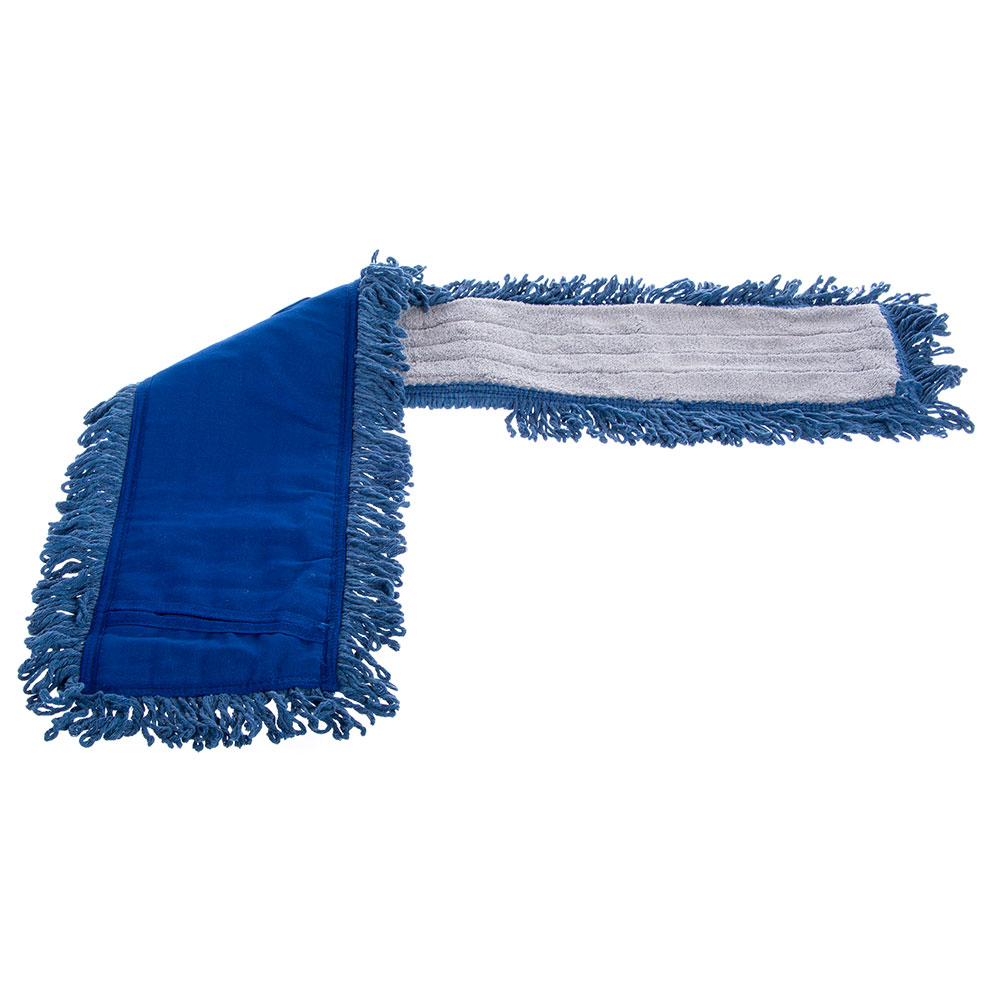 "Carlisle 364883614 36"" Flo-Pac® Dust Mop Head Only w/ Looped Ends, Blue"