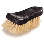 "Carlisle 36500900 6"" Utility Scrub Brush - Tampico/Poly, Black"