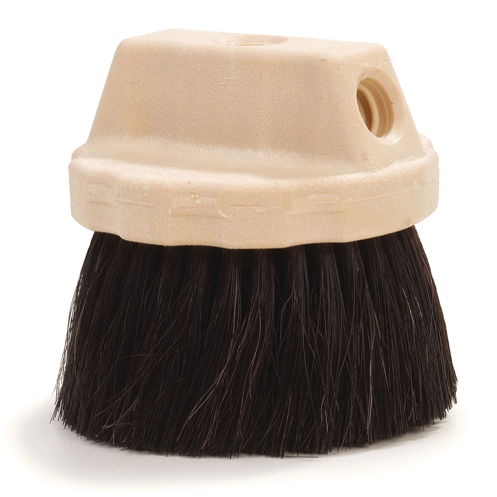 "Carlisle 365127 4-1/2"" Flo-Thru Window Brush - Horsehair/Poly, Black"