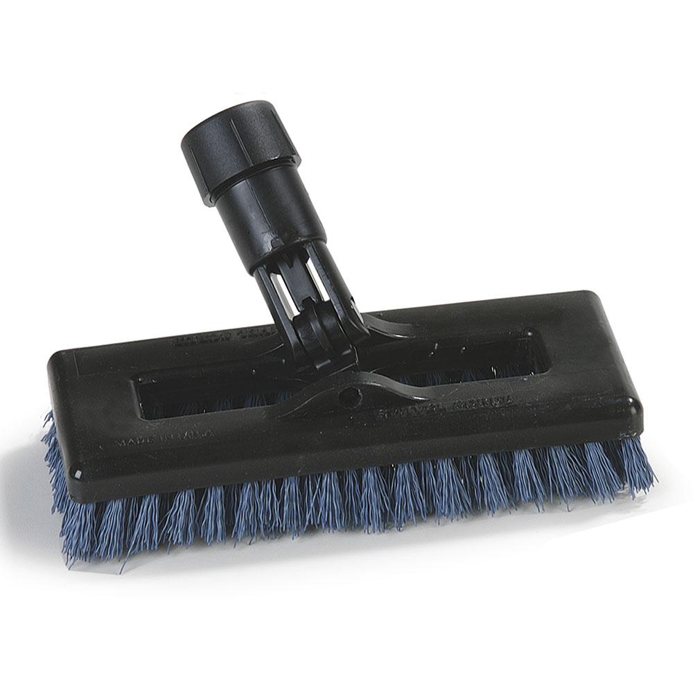 "Carlisle 36530014 8"" Swivel Scrub Floor Brush Head - Nylon/Plastic, Blue"