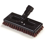 "Carlisle 36531027 8"" Swivel Scrub Floor Brush Head - Nylon/Plastic, Rust"
