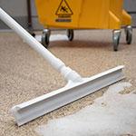 "Carlisle 3656702 20"" Floor Squeegee Head - Straight, Foam Rubber Blade, White"