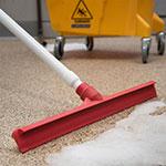 "Carlisle 3656705 20"" Floor Squeegee Head - Straight, Foam Rubber Blade, Red"