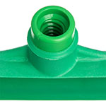 "Carlisle 3656709 20"" Floor Squeegee Head - Straight, Foam Rubber Blade, Green"