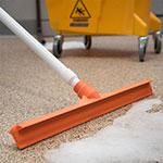 "Carlisle 3656724 20"" Floor Squeegee Head - Straight, Foam Rubber Blade, Orange"