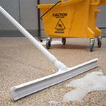 "Carlisle 3656802 24"" Floor Squeegee Head - Straight, Foam Rubber Blade, White"