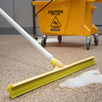"Carlisle 3656804 24"" Floor Squeegee Head - Straight, Foam Rubber Blade, Yellow"