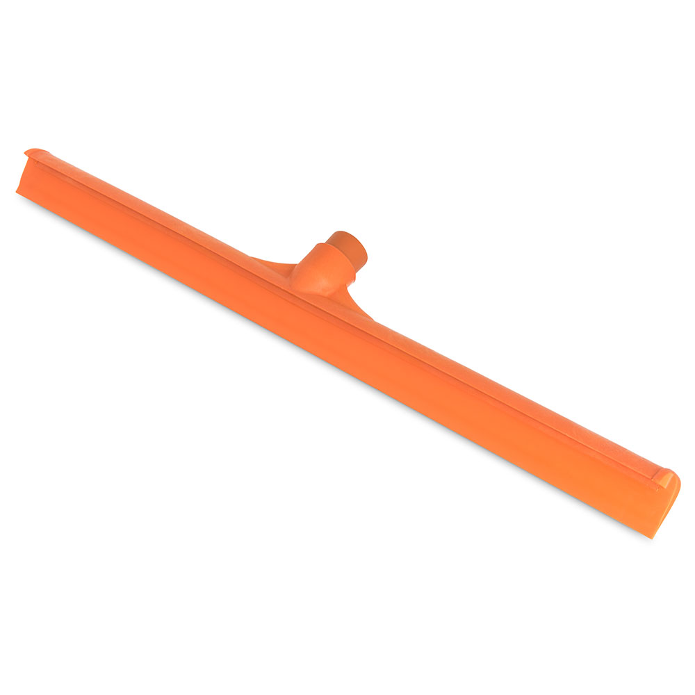 "Carlisle 36568-24 24"" Floor Squeegee Head - Straight, Foam Rubber Blade, Orange"