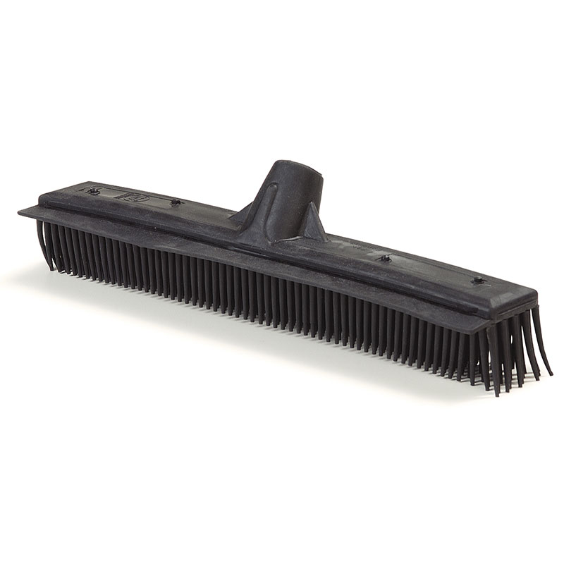 "Carlisle 3659203 12-1/2"" Brush with Squeegee - Rubber/Poly, Black"