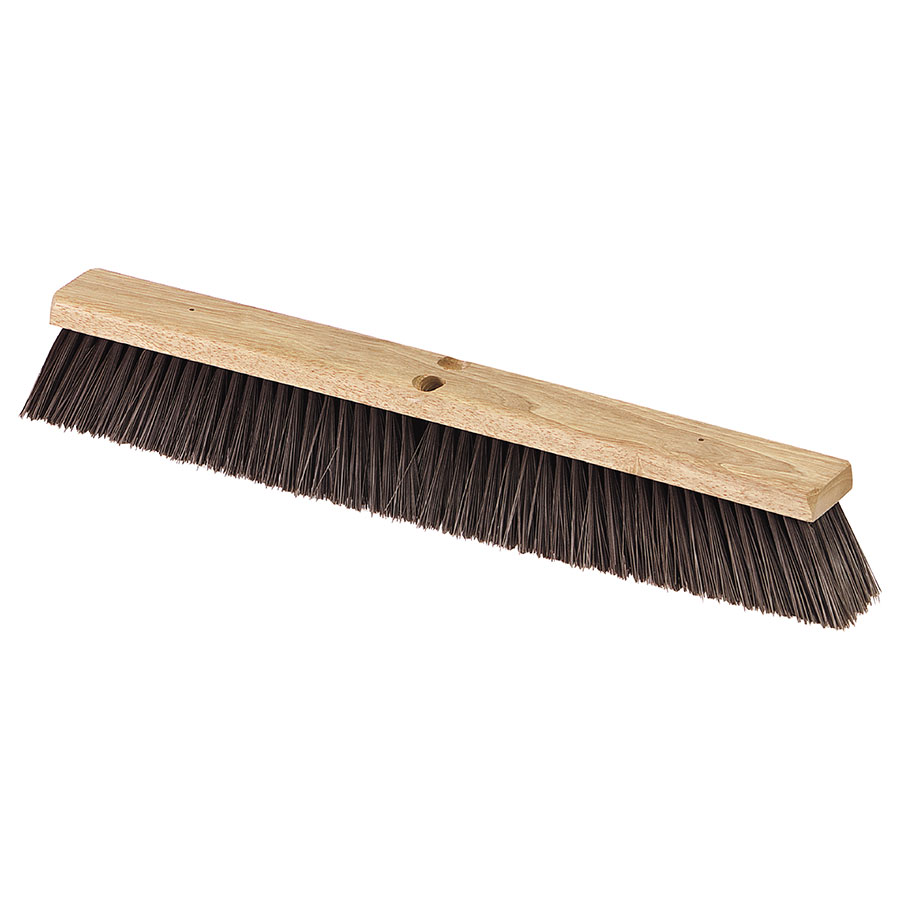 "Carlisle 36622403 24"" Floor Sweep - Fine/Medium, Hardwood Block, Black Poly Bristles"