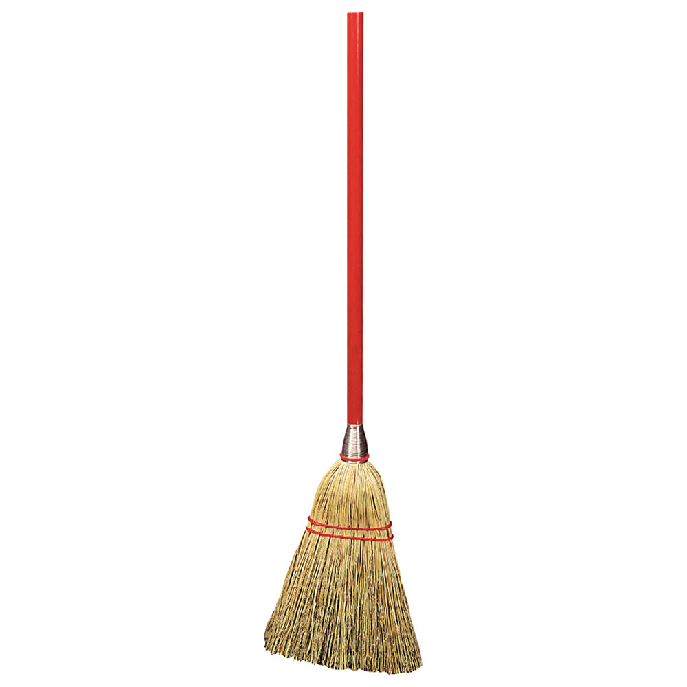 "Carlisle 368100 34"" Lobby Broom - Natural Corn Bristles"