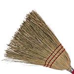 "Carlisle 368200 40"" Lobby Corn Broom - Blended Corn Bristles, Wood Handle"