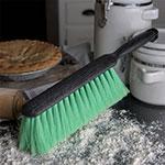 "Carlisle 3684676 8"" Counter/Bench Brush - Nylex/Plastic, Green"