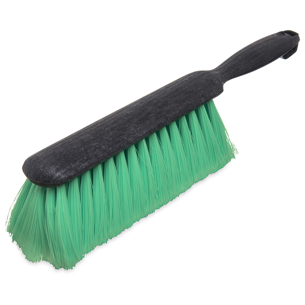 "Carlisle 3684676 8"" Counter/Bench Brush - Nylex/Plastic, Green"