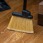 "Carlisle 3686100 30"" Lobby Angle Broom - Black Metal Handle, Polypropylene Bristles"