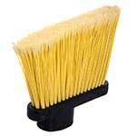 "Carlisle 36861L00 36"" Lobby Angle Broom - Metal Handle, Polypropylene Bristles, Black"