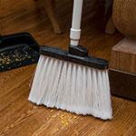"Carlisle 3686702 12"" Angle Broom Head - Flagged Bristles, Polypropylene, White"